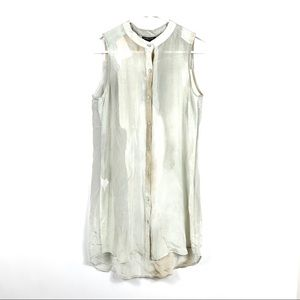 Eileen Fisher Silk Paint Wash Shear Blouse Petite